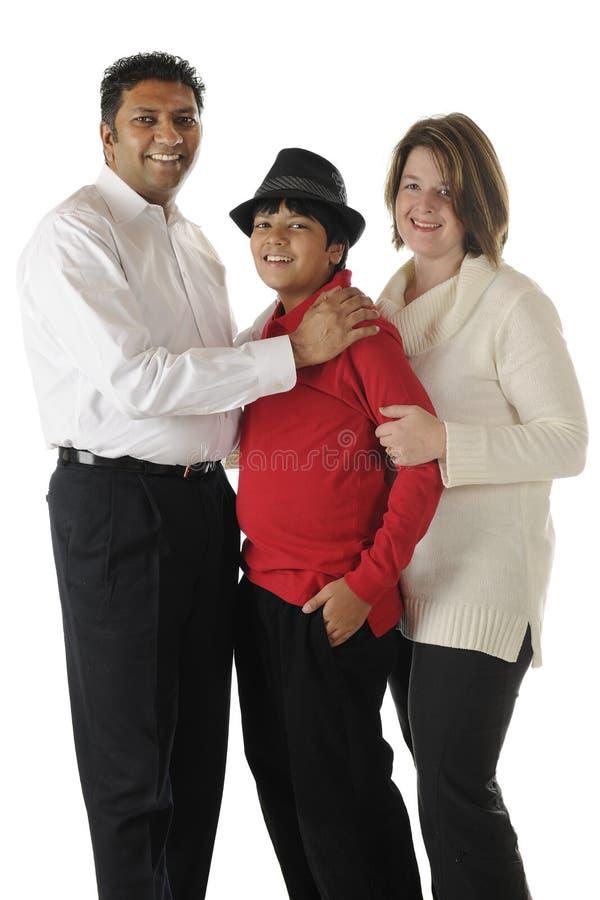 Famille Biracial photos libres de droits