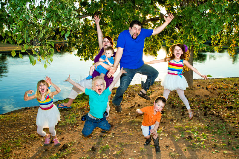 Famille branchant image stock