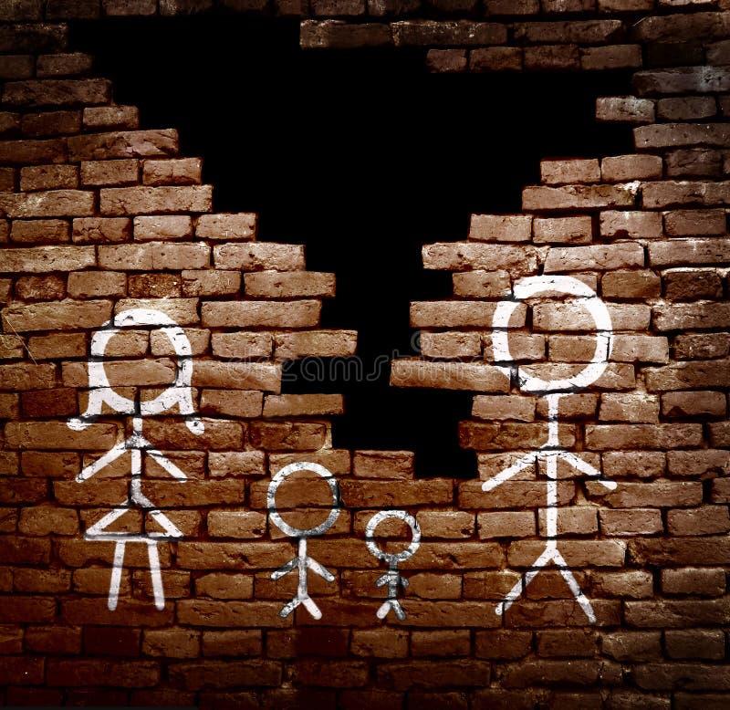 Famille cassée à part images libres de droits