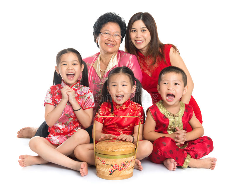 Famille chinoise asiatique images stock