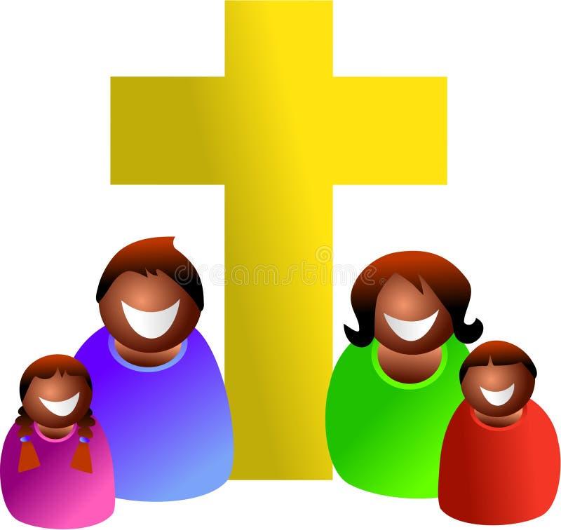 Famille chrétienne illustration de vecteur