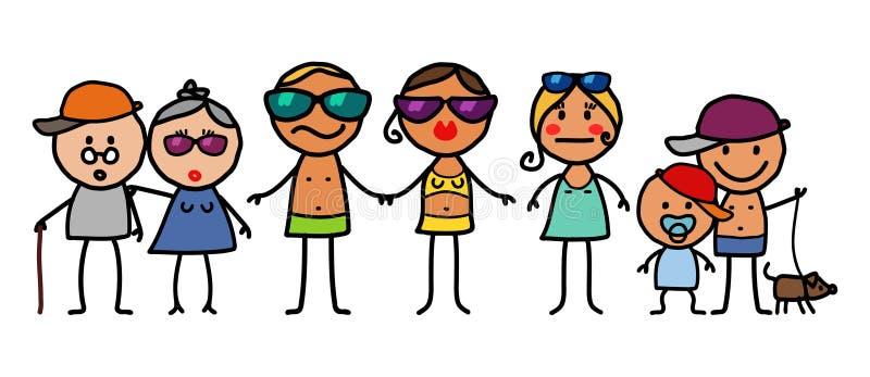 Famille d'été illustration stock