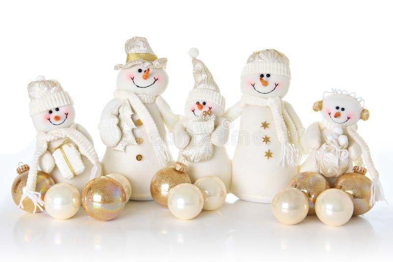 Famille d'homme de neige photos stock