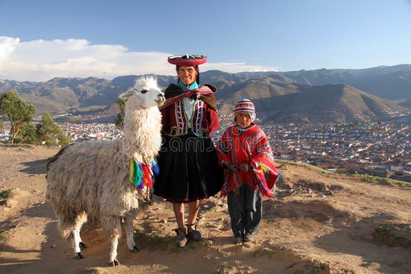 Famille d'Inca image libre de droits