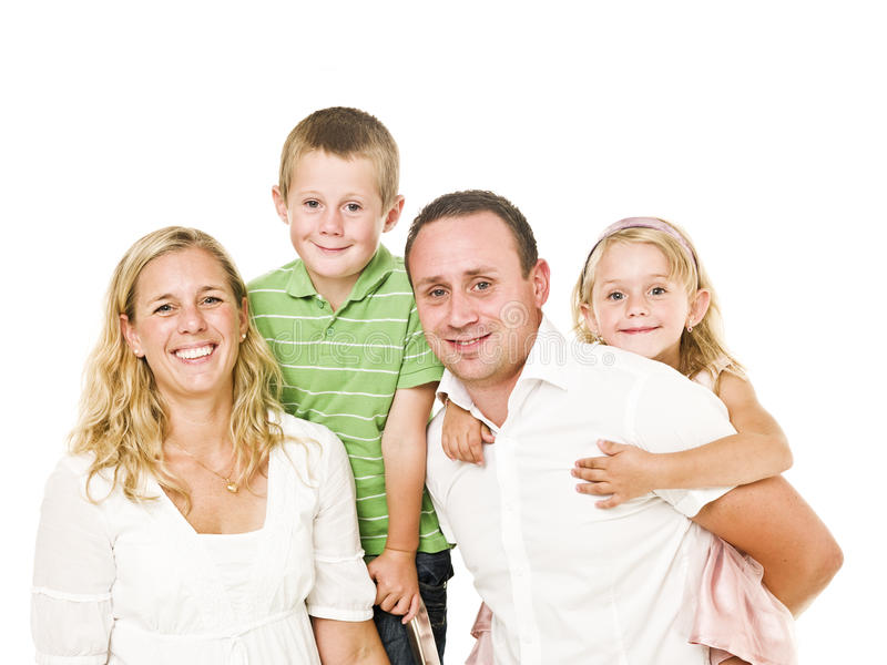 Famille d'isolement photographie stock