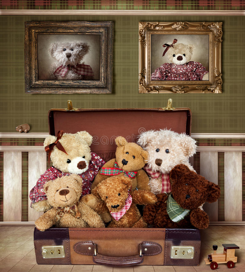 Famille d'ours de nounours images libres de droits