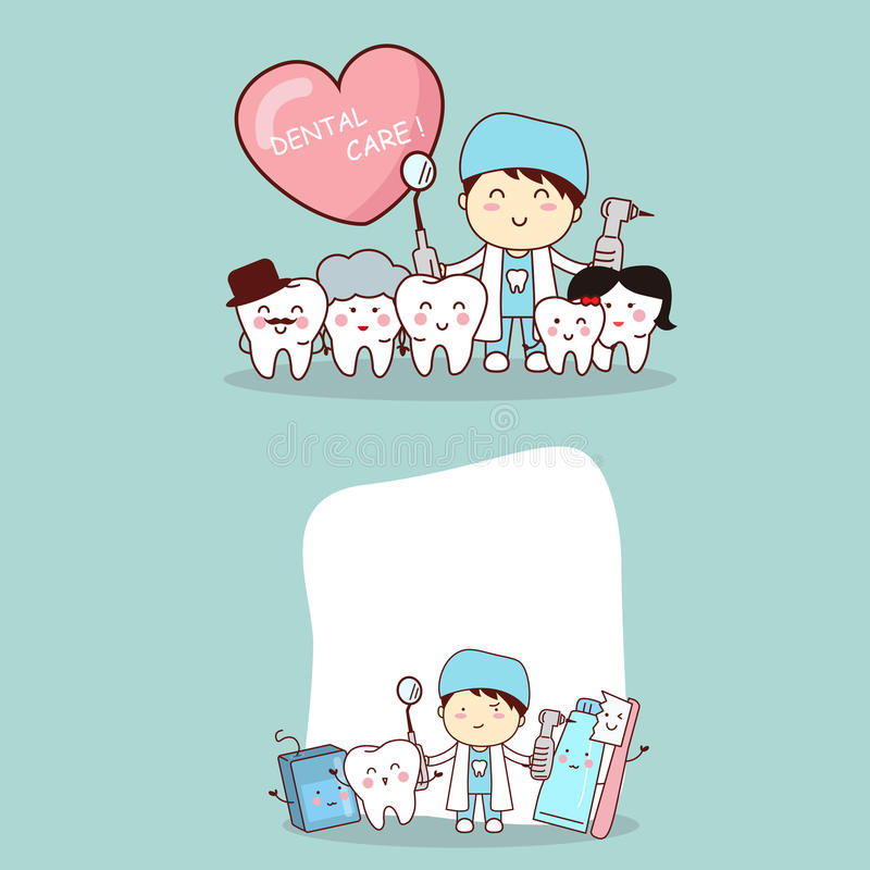 Famille de dent avec le dentiste illustration de vecteur