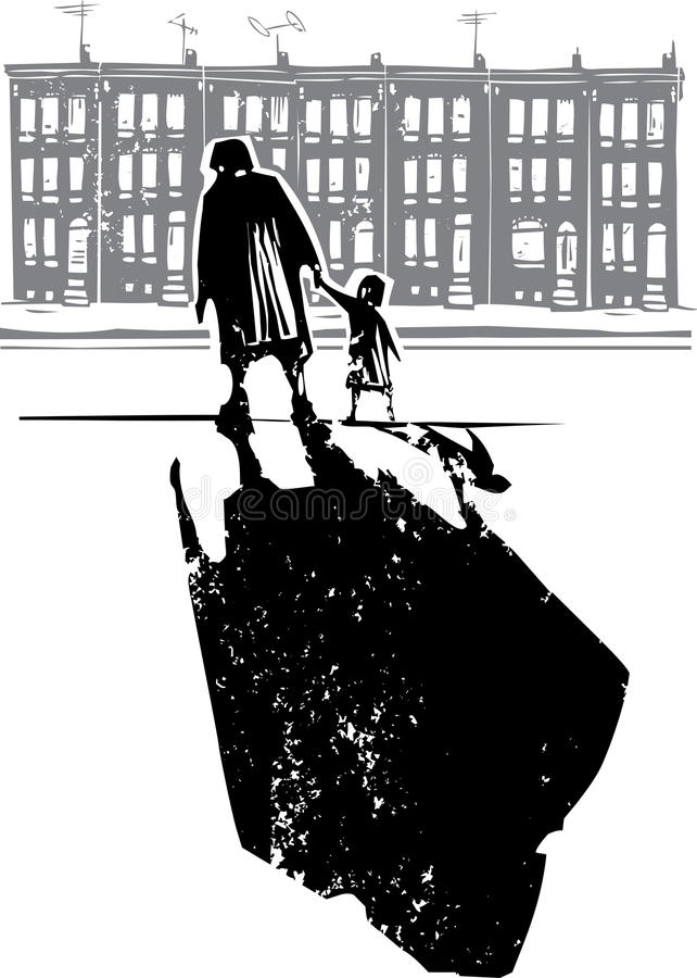 Famille de ghetto illustration libre de droits