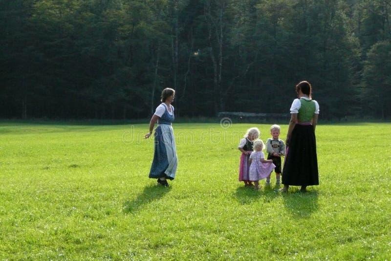 Famille de l'Allemagne images libres de droits