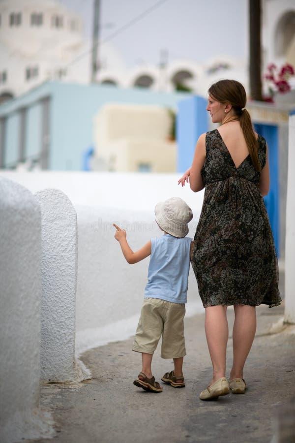 famille de l'Europe au voyage photographie stock libre de droits