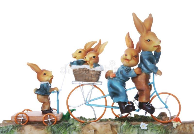 Famille de lapin de Pâques images libres de droits