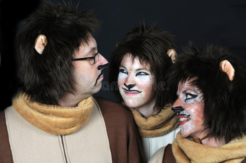 Famille de lion photo libre de droits