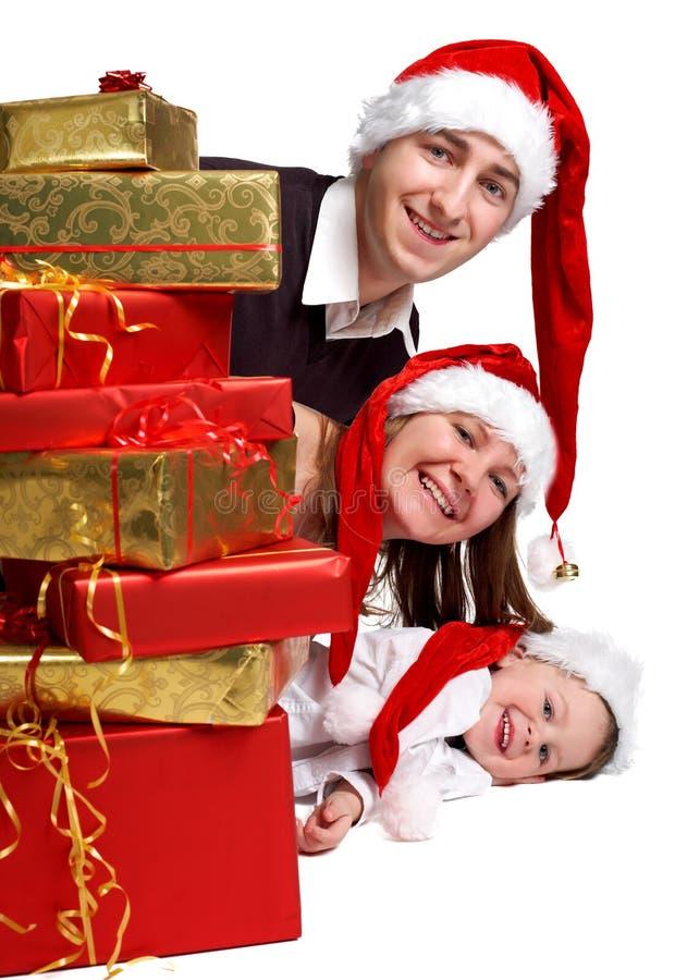 Famille de Noël images stock