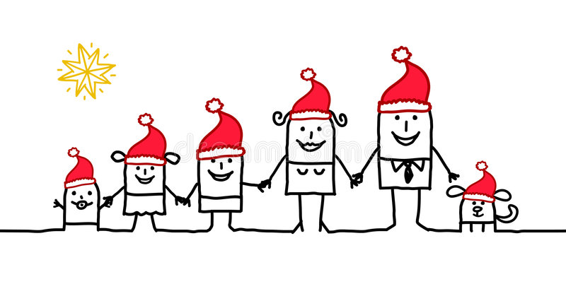 famille de Noël illustration stock