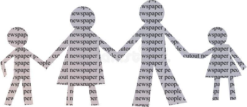 Famille De Papier Images libres de droits