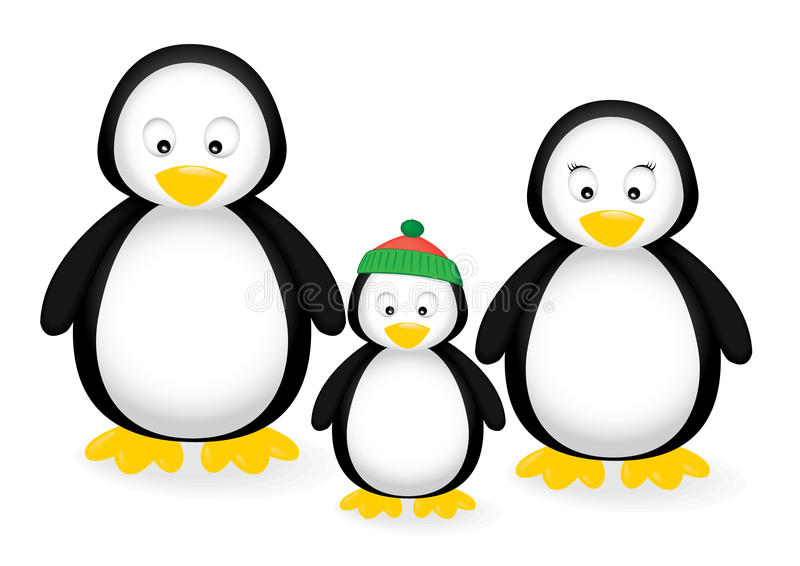 Famille de pingouin illustration stock