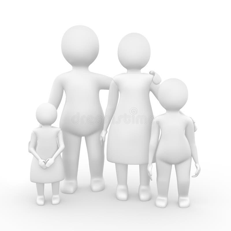 Famille de quatre membres illustration stock