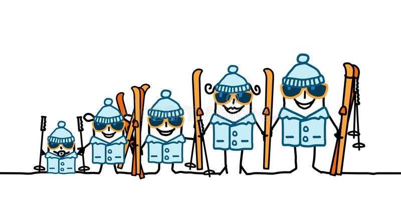 Famille de ski