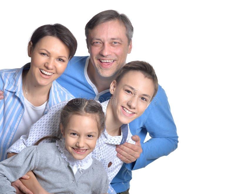 Famille de sourire heureuse photos stock