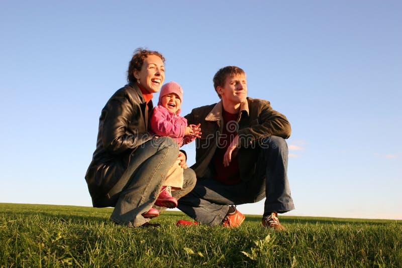 Famille de trois photos libres de droits