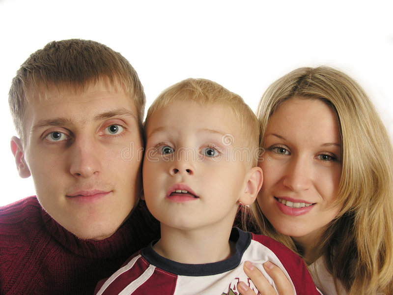 Famille de trois 3 photographie stock