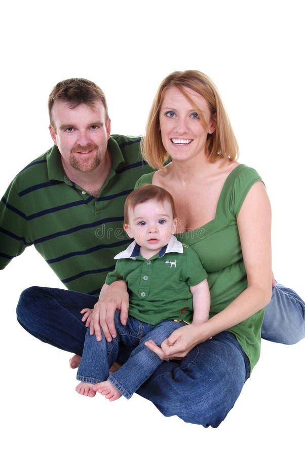 Famille de trois. images libres de droits