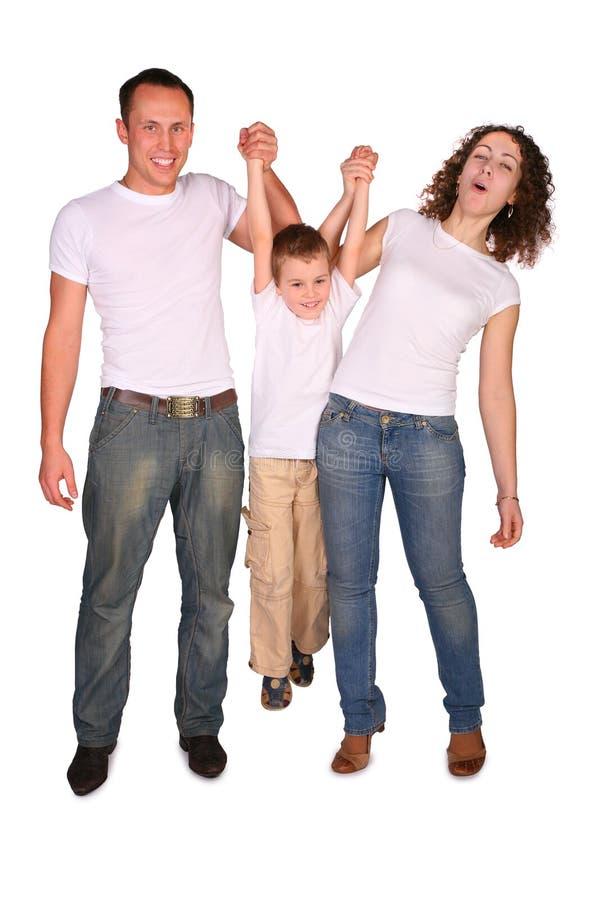 Famille de trois pièces image stock
