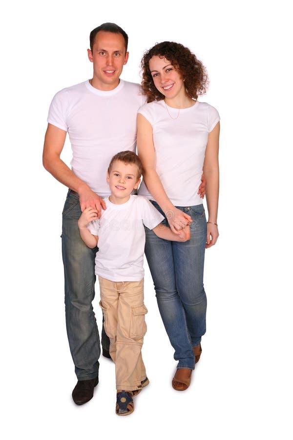 Famille de trois posant photographie stock libre de droits