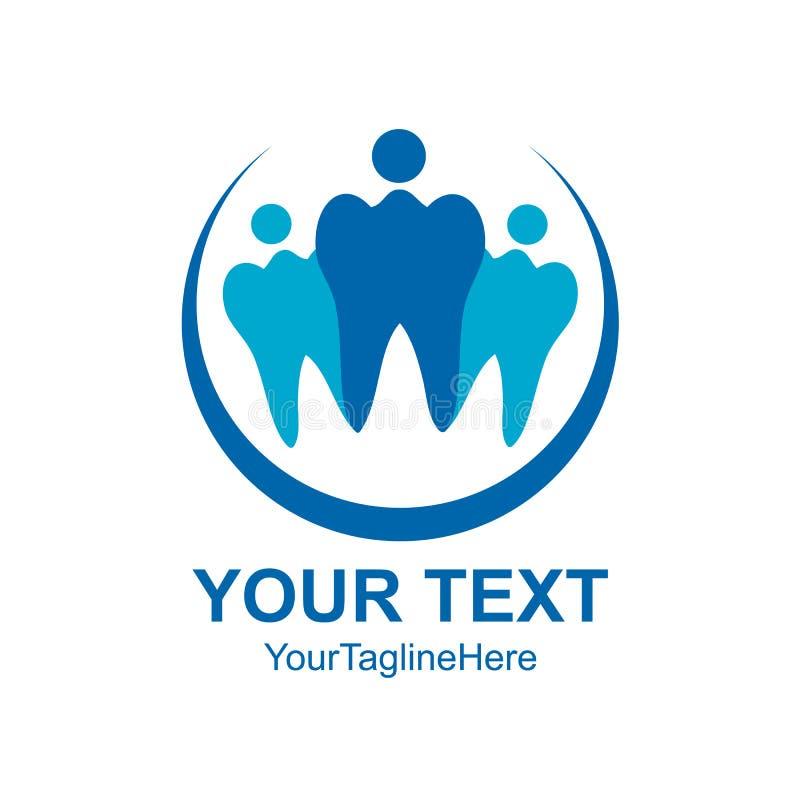 Famille dentaire Logo Design Template Vector de clinique illustration de vecteur