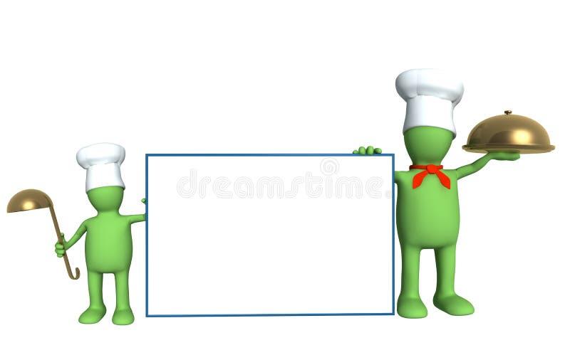 Famille des cuisiniers - parent et enfant illustration libre de droits