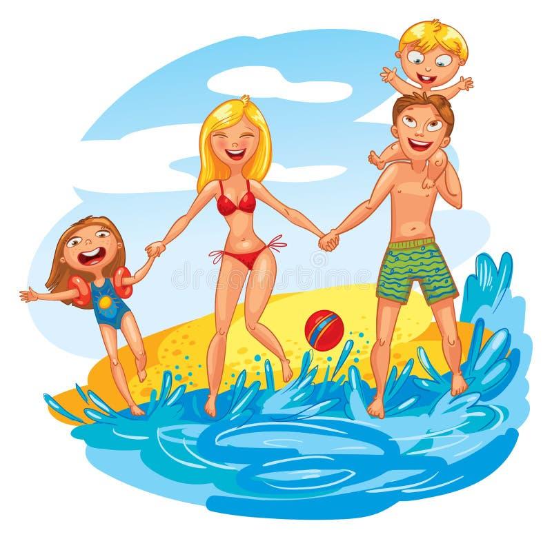 Famille des vacances illustration stock