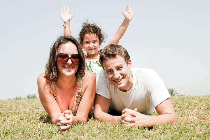 Famille des vacances trois images libres de droits