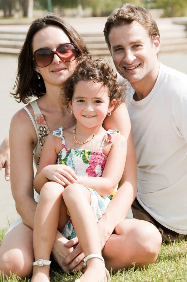 Famille des vacances trois image stock