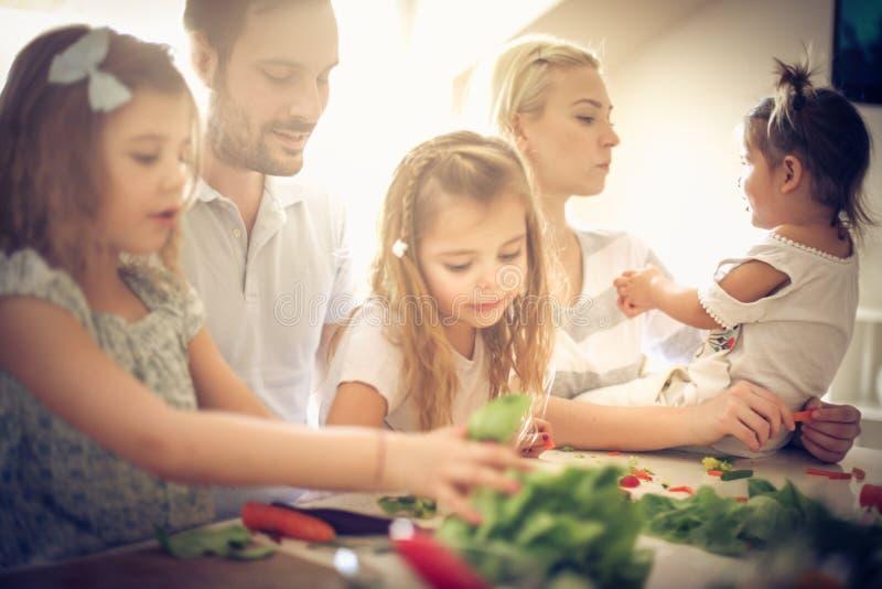 Famille en bonne santé photo stock