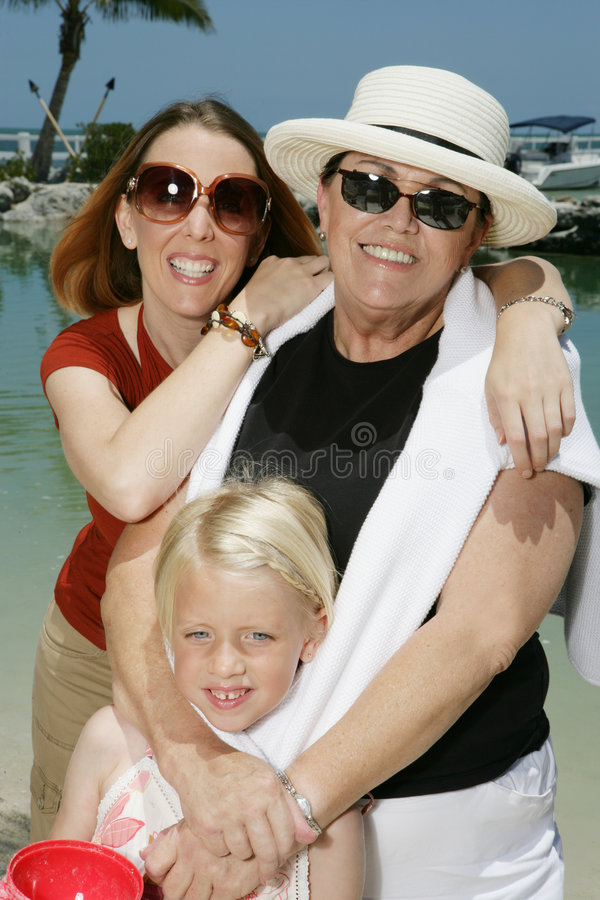 Famille en vacances image stock