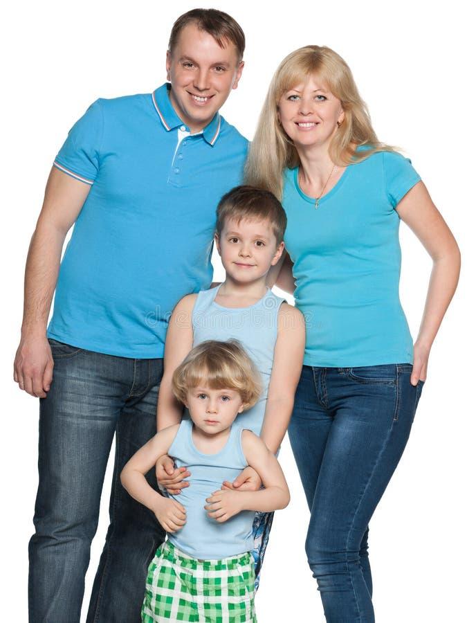 Famille ensemble sur le blanc photos libres de droits