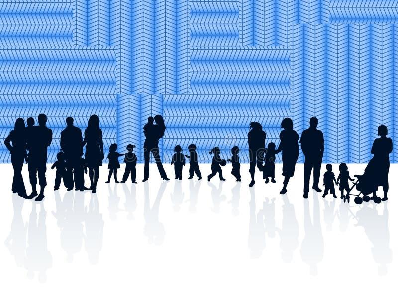 Famille et abstrait illustration de vecteur
