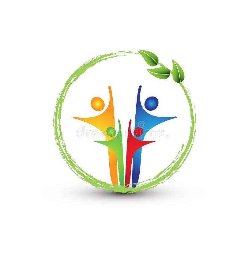 Famille et système d'écologie illustration de vecteur