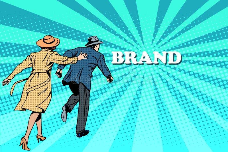 Famille et vente de la marque illustration libre de droits