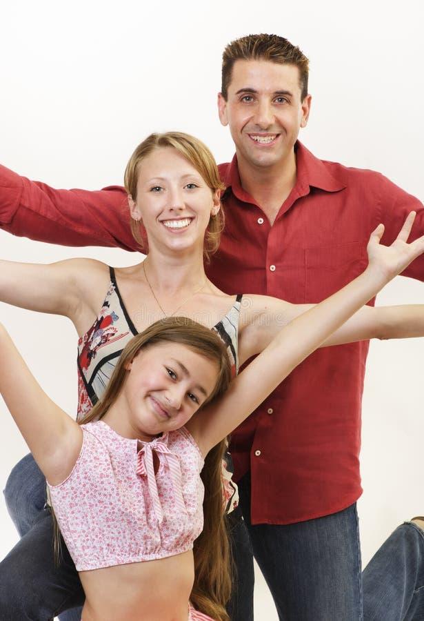 Famille heureuse 2 photos libres de droits