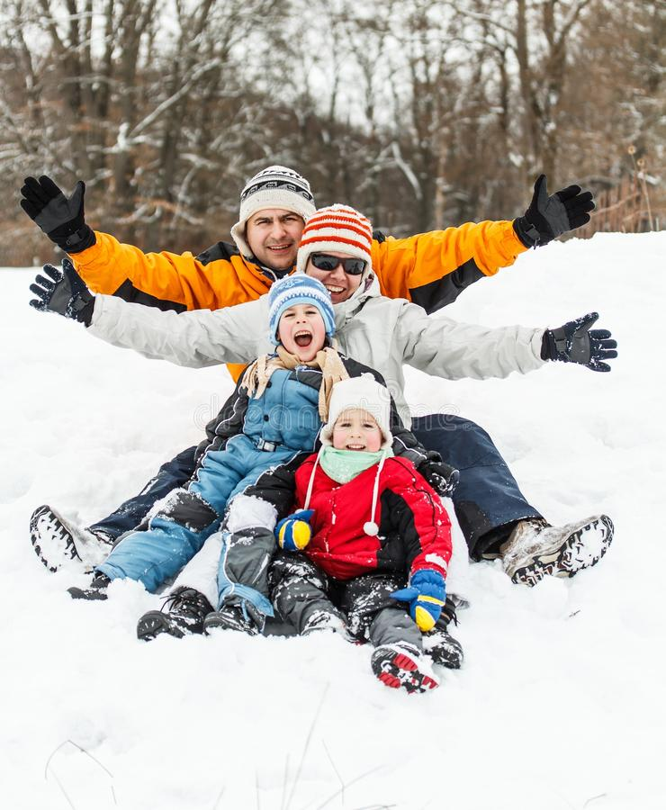 Famille heureuse images libres de droits