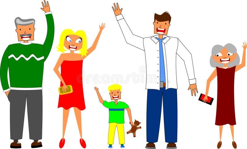 Famille heureuse illustration stock