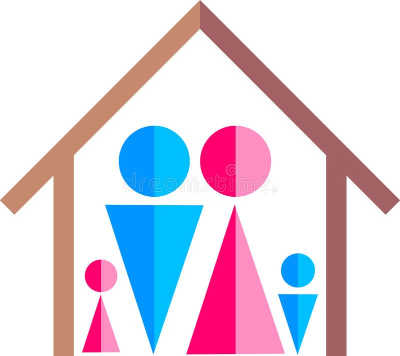 Famille heureuse illustration libre de droits