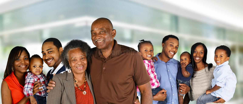 Famille heureuse d'afro-américain photographie stock libre de droits