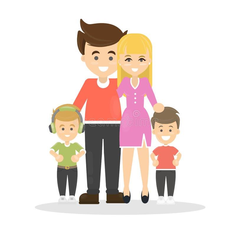 Famille heureuse d'isolement illustration libre de droits
