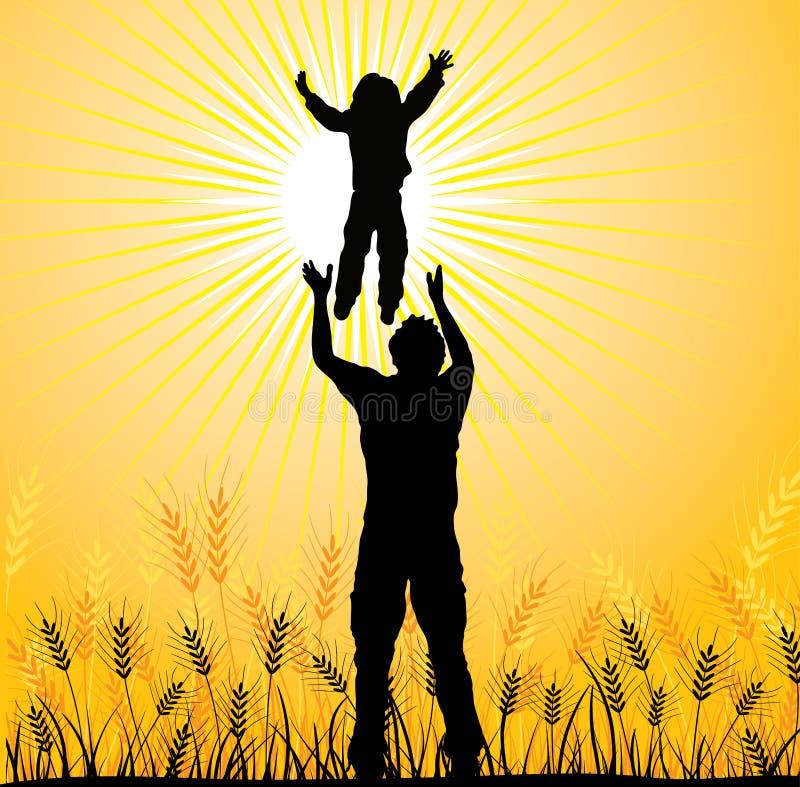 Famille heureuse, vecteur illustration stock
