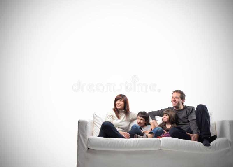 Famille heureux images libres de droits