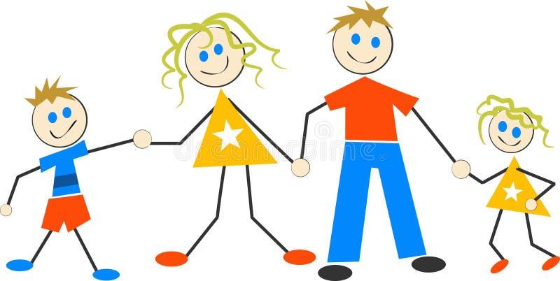 Famille heureux illustration libre de droits