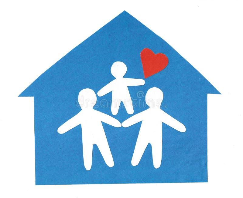 Famille heureux. image libre de droits