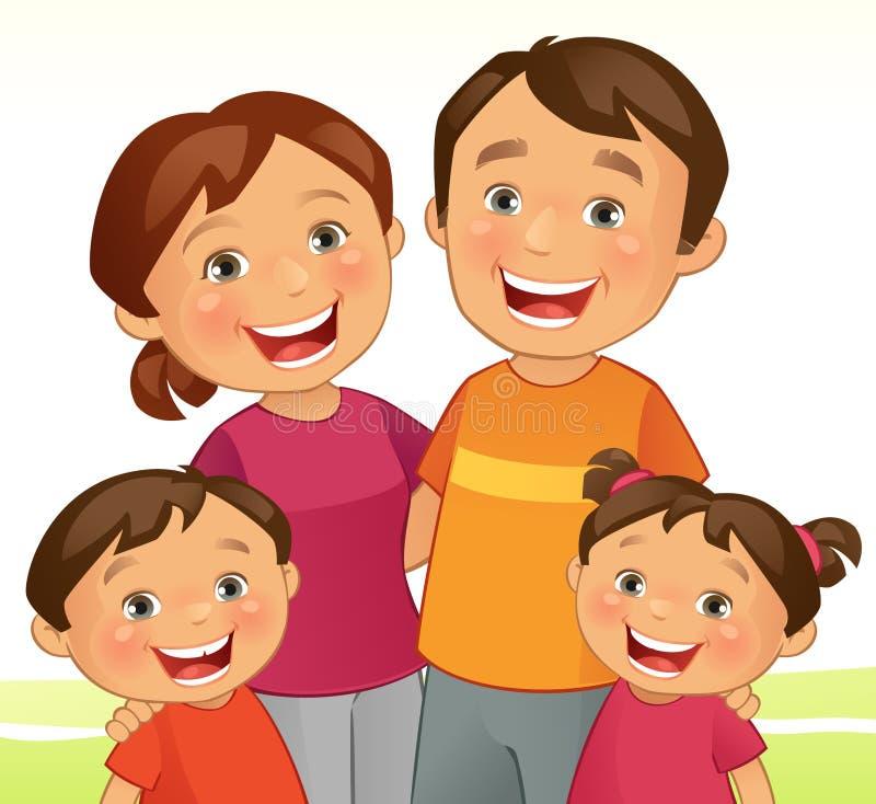 Famille heureux illustration stock